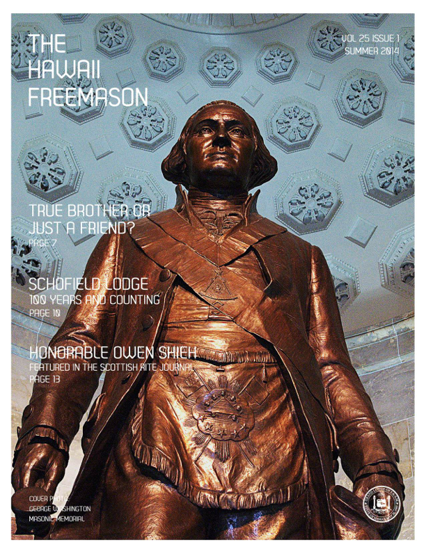 Hawaii Freemason - Summer 2014 Cover
